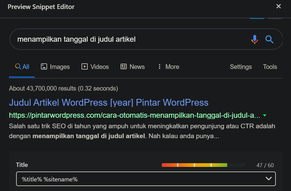 Cara Otomatis Menampilkan Tanggal di Judul Artikel WordPress 2020 5