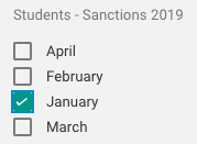 Select the custom label you just created signifying a learner needs to be assigned sanctions