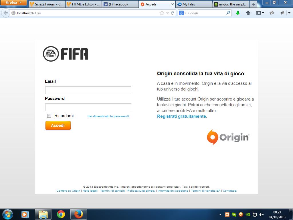 Fakelogin FIFA14