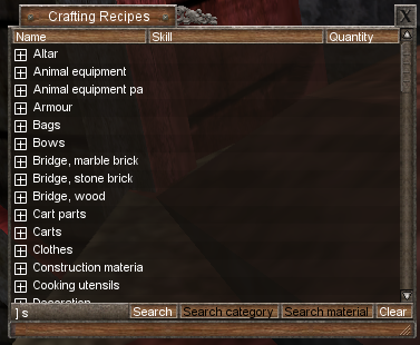 make cookbook just like the crafting recipe menu suggestions