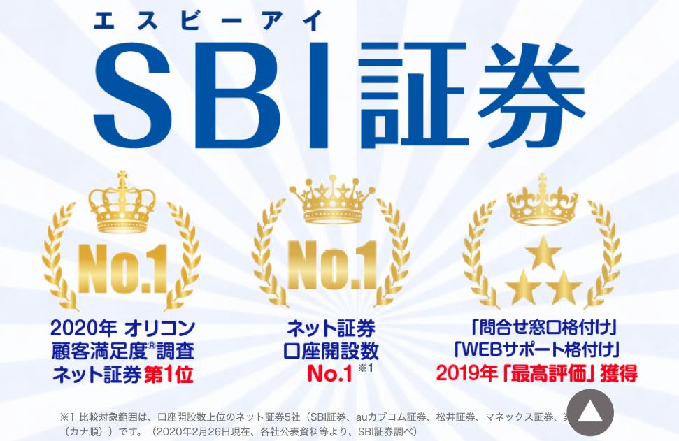 ネット証券で人気No.1のSBI証券。とにかく機能が豊富なため、できないことがありません。
