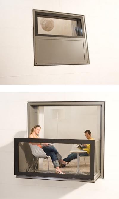 Convierte ventanas en balcones by l3utterfish