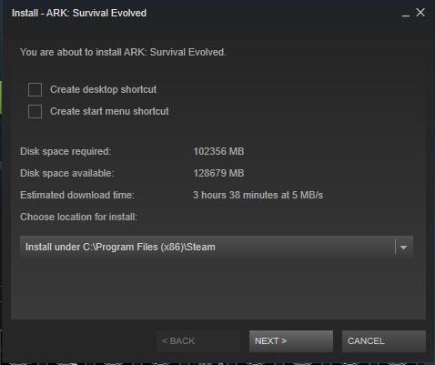 ark survival evolved download size 2019