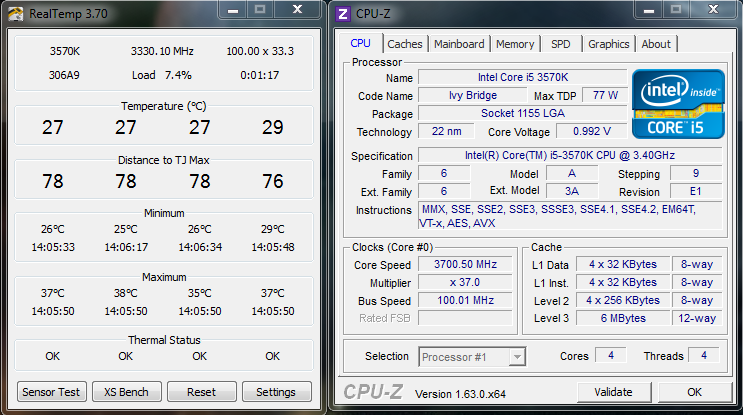 how to see my cpu