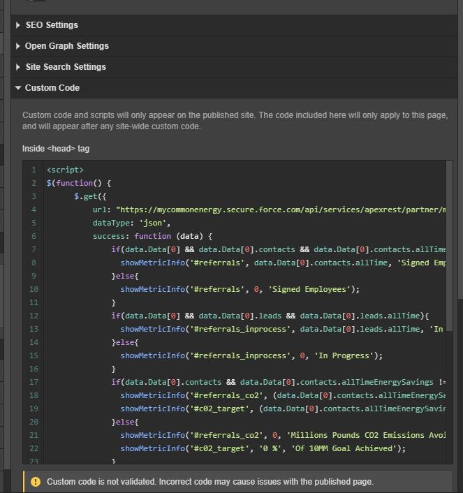 CORS No 'Access-Control-Allow-Origin' - Custom Code - Webflow Forums