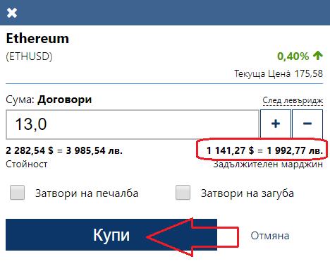 Ethereum купуване с ливъридж
