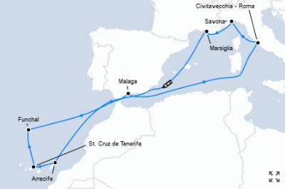 Guarda qui l'offerta crociera Francia, Canarie e Portogallo!