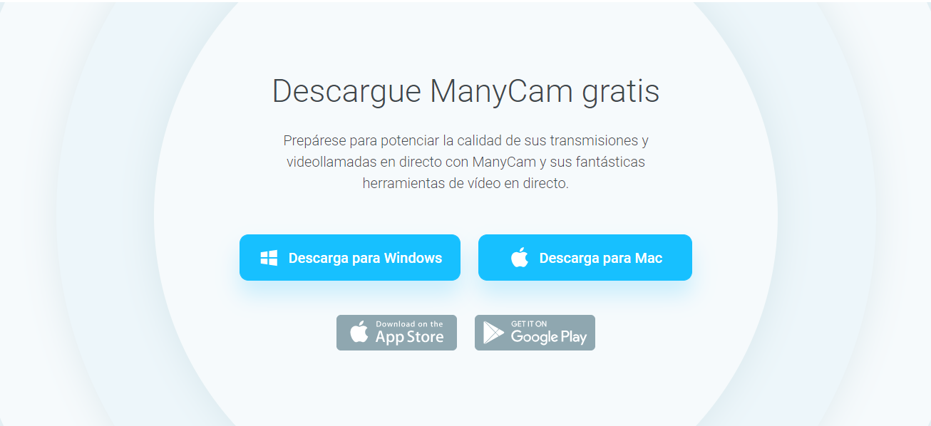 Descargar Manycam para falsificar la webcam