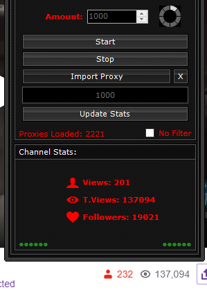 Twitch View Bot ⭐ Lifetime $20 ⭐ Free Proxies ⭐ Connecters | Chat