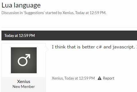 Suggestion - Lua language   GTA Network Forum