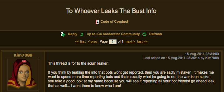 runescape how to tell if someone is botting