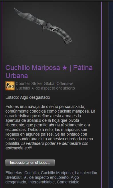 WTS] Steam account VAC CS:GO Butterfly Knife Urban Masked FT - MPGH
