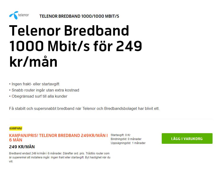 bredbandsbolaget uppsägningstid adsl