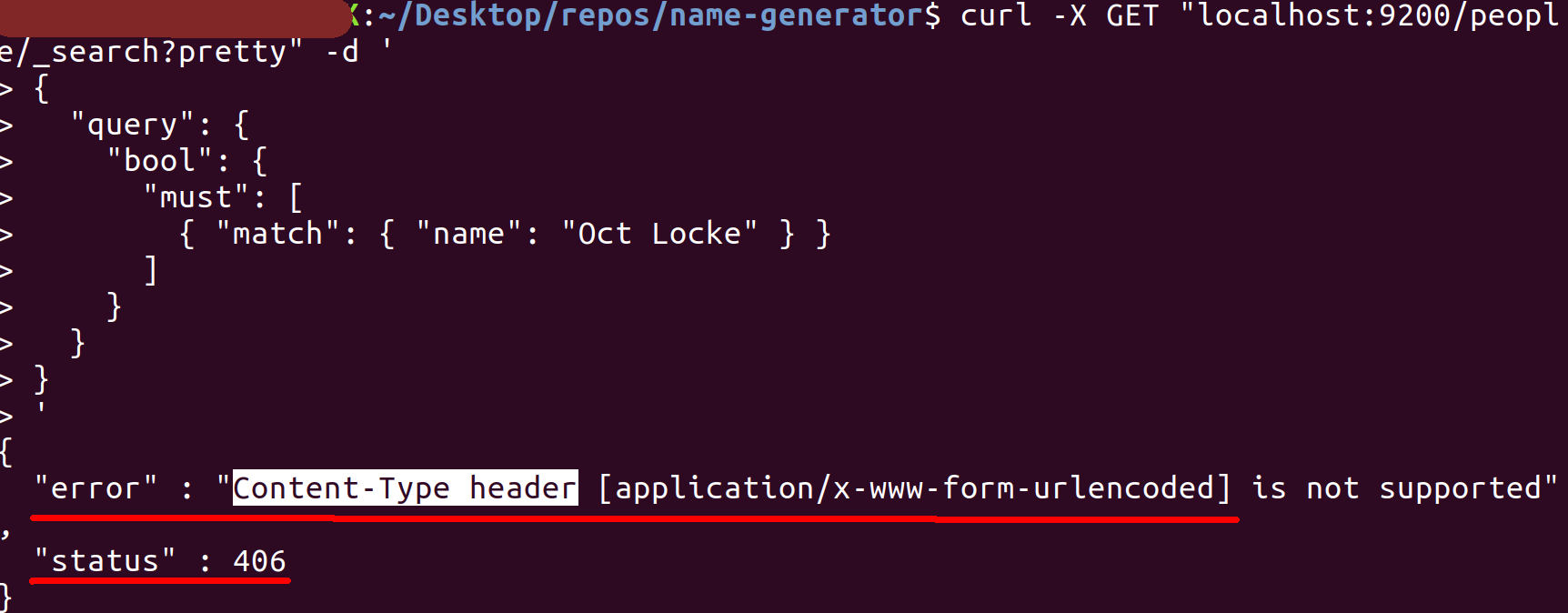 406 Content Type Header Error Missing Header Option