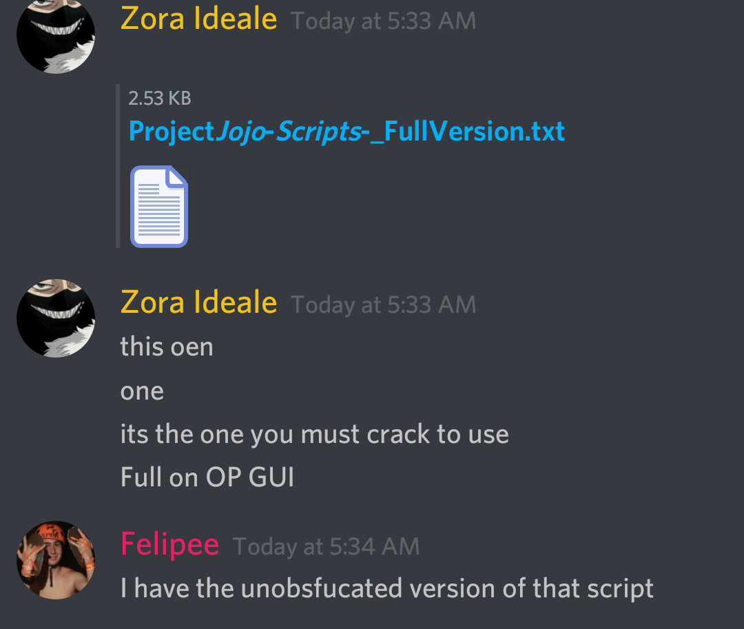 CW] Project jojo copied GUI