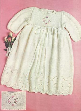 Белое платье для девочки до года