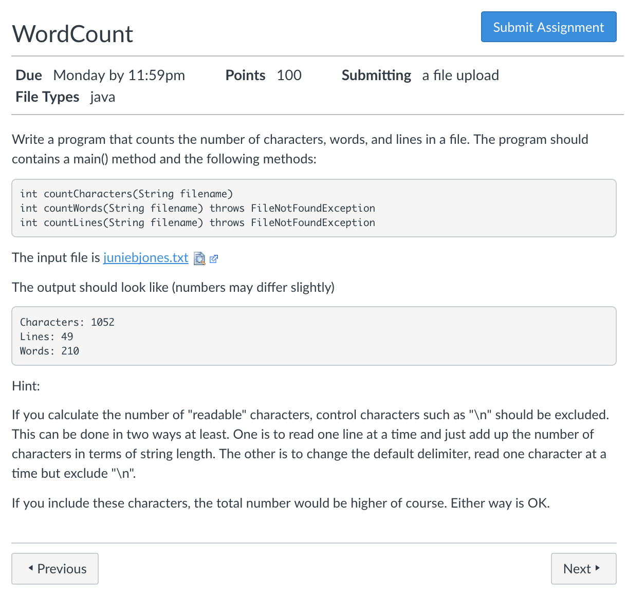 Solved: Word Count Submit Assignment Submitting A File Upl