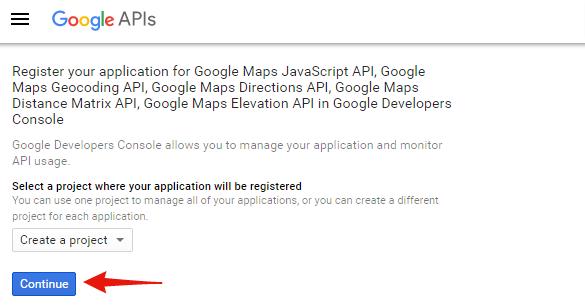 Creating a Google Maps API Key / TommusRhodus