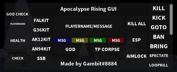 Apocalypse Rising Scripts