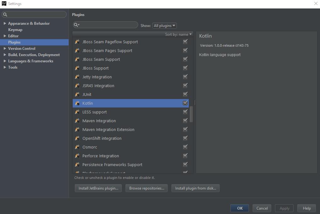 How to downgrade Kotlin in Intellij 15 - Stack Overflow