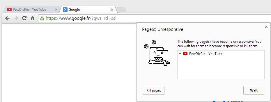video - YouTube pages unresponsive on Chrome - Super User