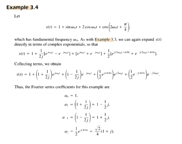 Example 34 Let Which Has Fundamental Frequency As With 33 We Can Again