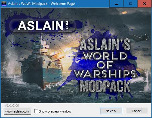 0 8 6 0] Aslain's WoWS ModPack Installer #03 (31-07-2019) - Modpacks
