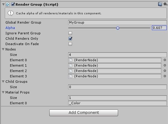 Fade groups of objects in Unity3d  - The Battlecruiser Dev log