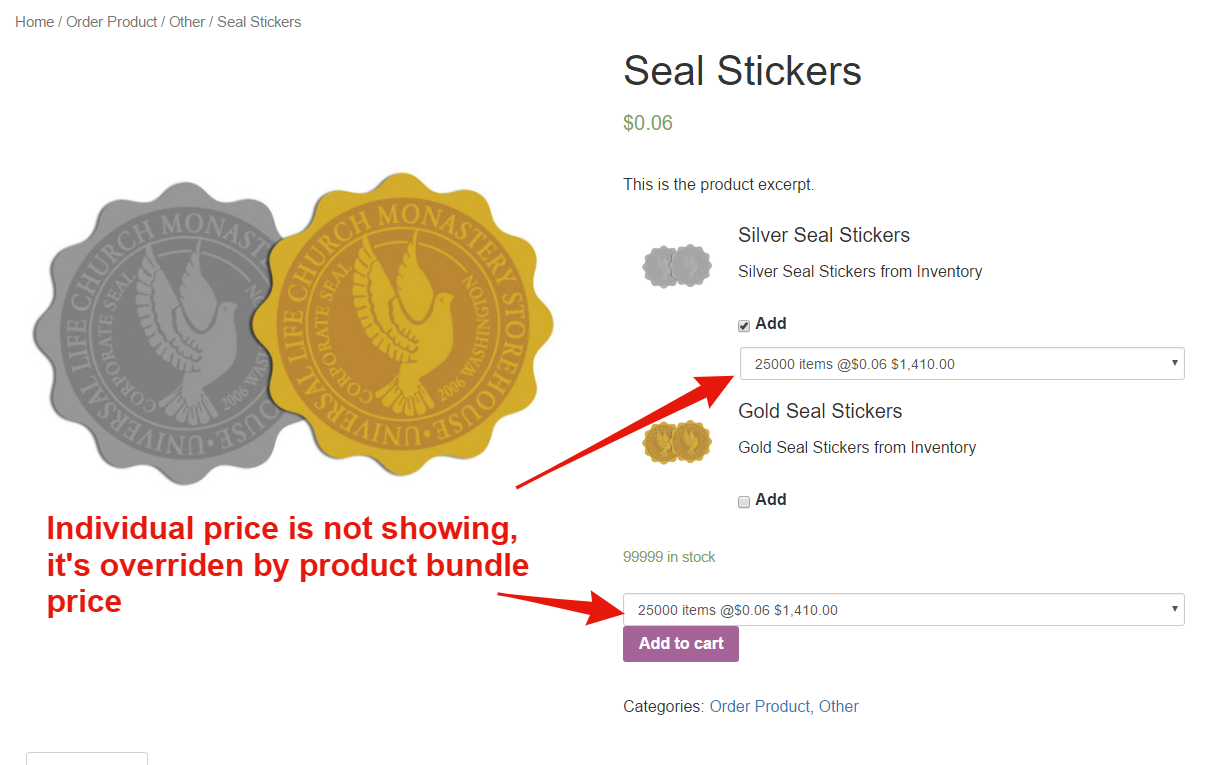 Product Bundle pricing conflict