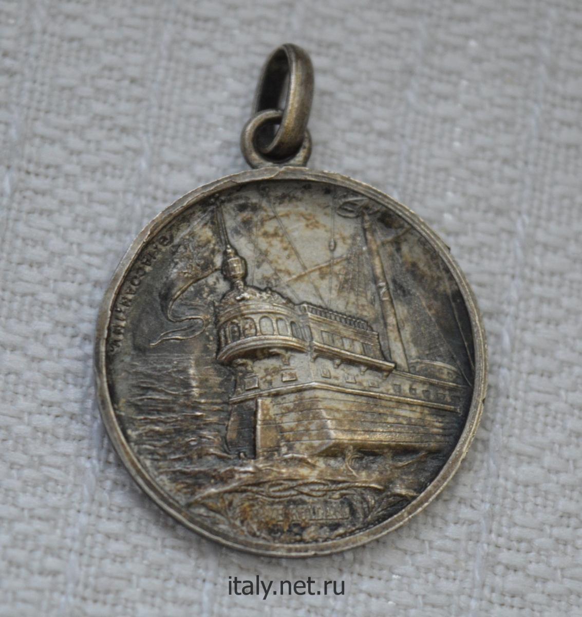 Итальянский антиквариат. Медальон в честь генуэзского адмирала и государственного деятеля Андреа Дориа