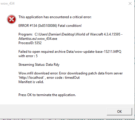 Wow Wont Download