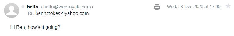 First emoji mail