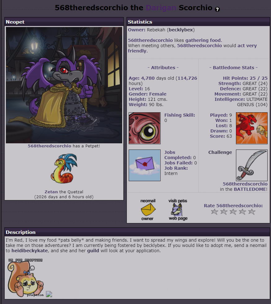 Pound, Adopt or Trade Your Pets - Page 88 - Neopets General