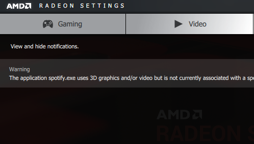 Missing: Radeon Additional Settings button, Also Refuses to