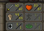 40 Attack, 99Strength, 1 Defence OSRS Pure Account