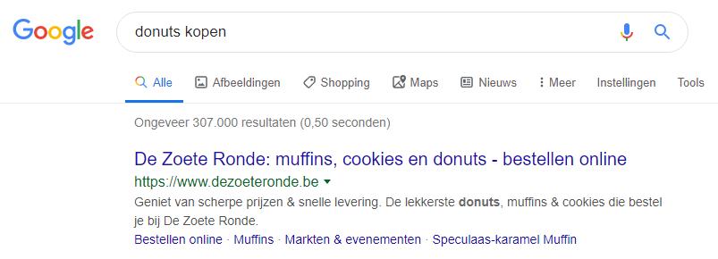 meta data voor keyword donuts kopen