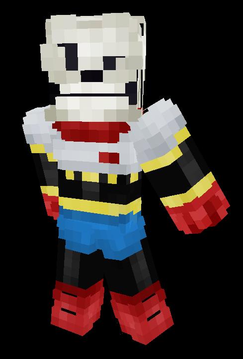 Undertale - The Great Papyrus! Minecraft Skin