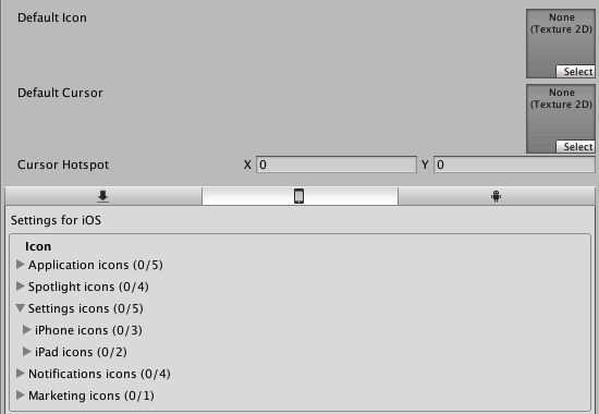 What icon player settings do i need? - Unity Forum