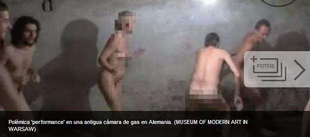 Polémica por una 'performance' con gente desnuda jugando en una antigua cámara de gas C0dfe1fb6476bb9c205ee92038c0b1b5