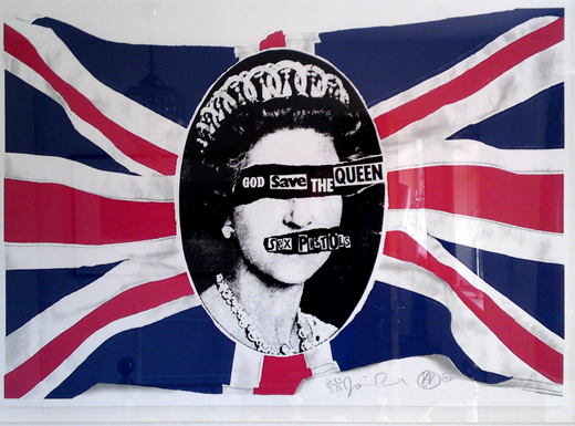 The legendary artist Jamie Reid – responsible for the 'God Save the Queen' and other iconic Sex Pistols images – has designed and donated 200 signed limited edition prints to the 'Save Kensal Rise Library' campaign.