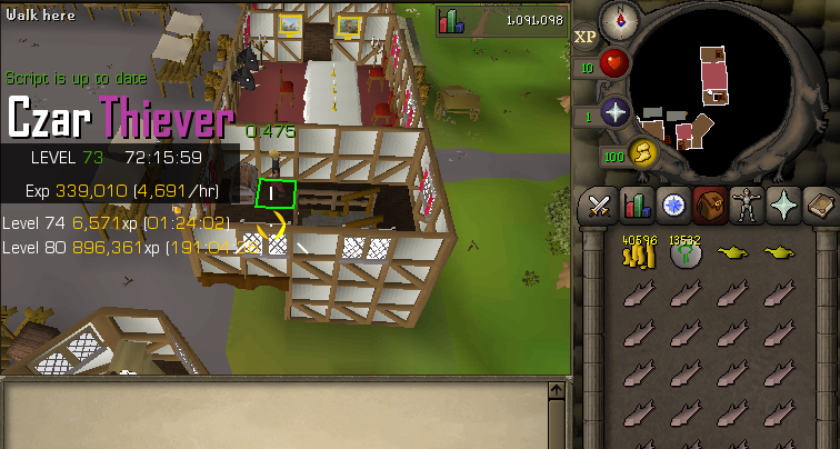 Perfect Thiever - Thieving - OSBot :: 2007 OSRS Botting