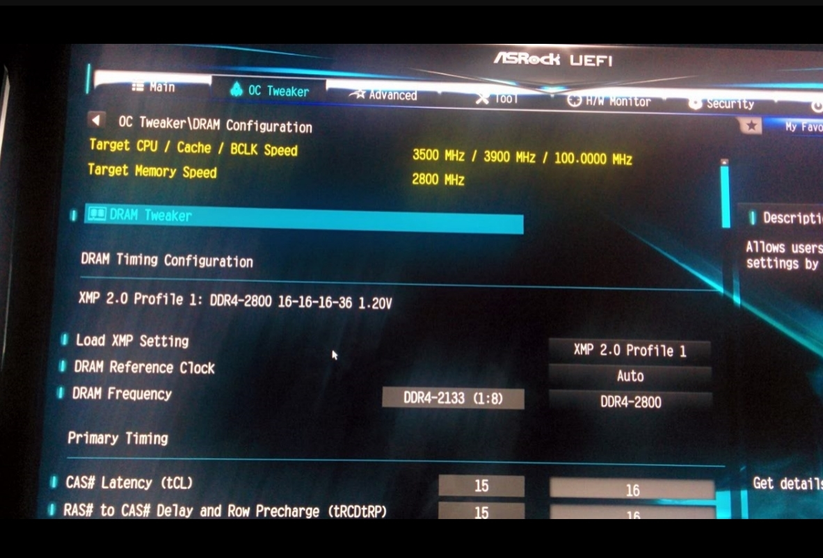 XMP issue I think - ASRock Forums - Page 1