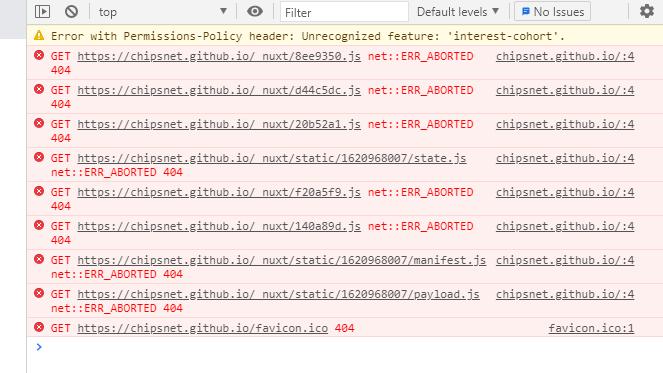 GithubPagesにNuxt.jsをデプロイすると_nuxt配下が404になる