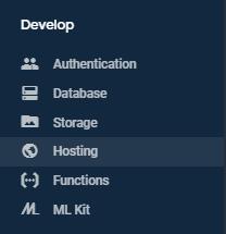 Hosting Google Firebase