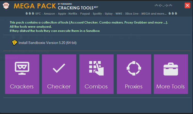 ALL CRACKING PROGRAMS (combos,proxies,crackers,checkers)
