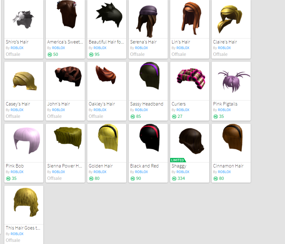 Copy And Paste Roblox Hair Names