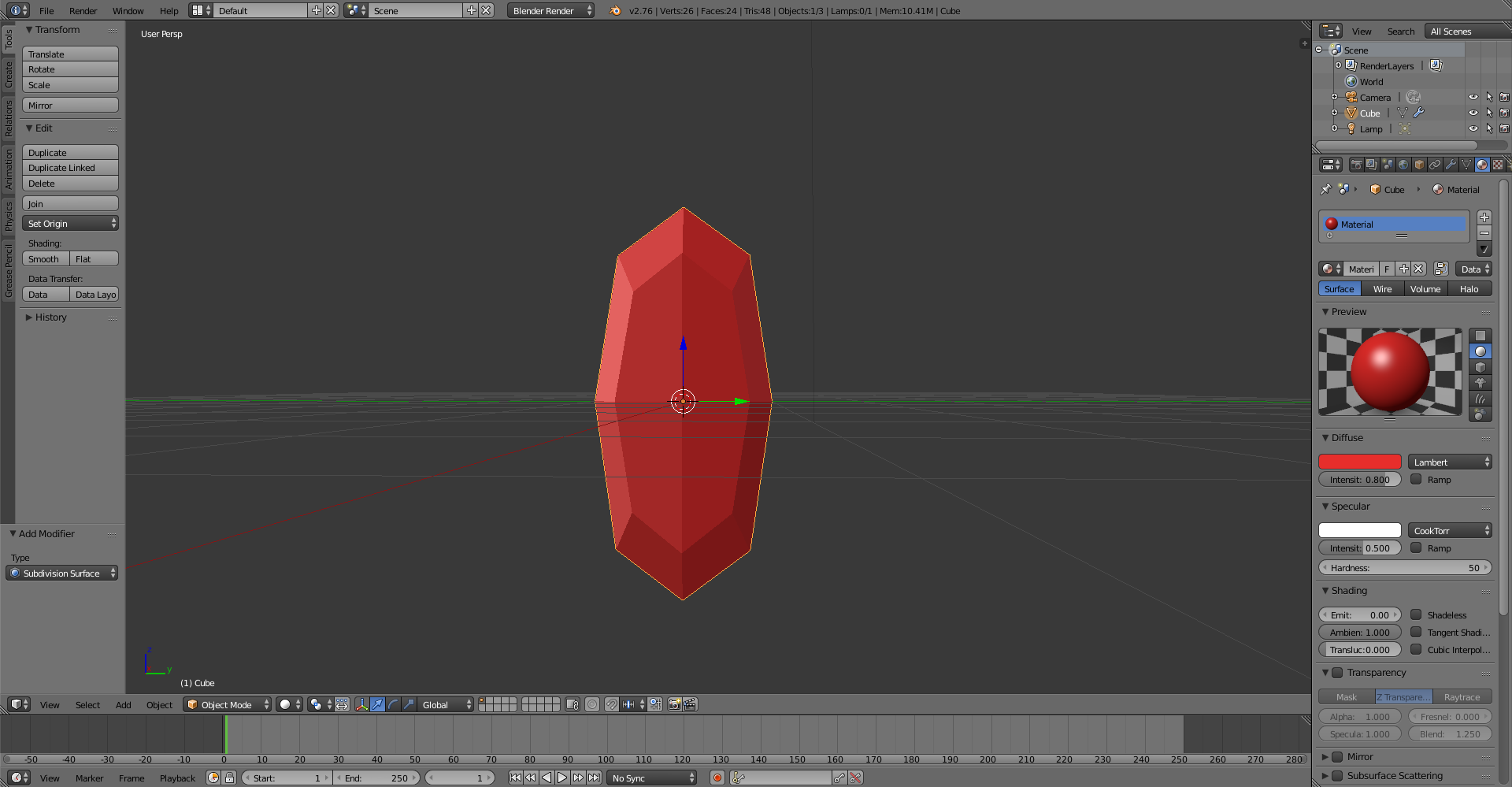 How to make a simple ruby in Blender  | CGTrader