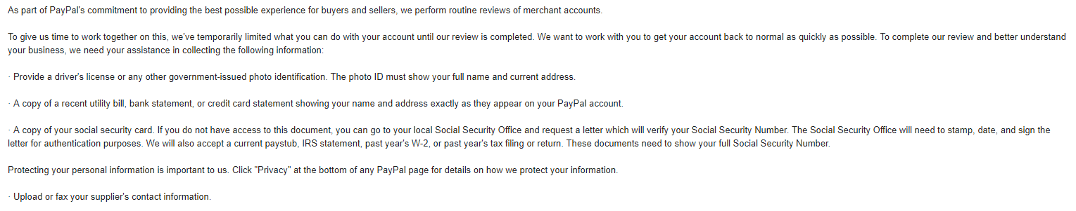 Your Account Access is Temporarily Limited - eBay Suspended