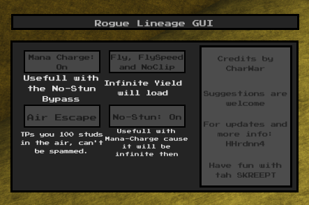 Up2Date] Rogue Lineage [Overpowered GUI]