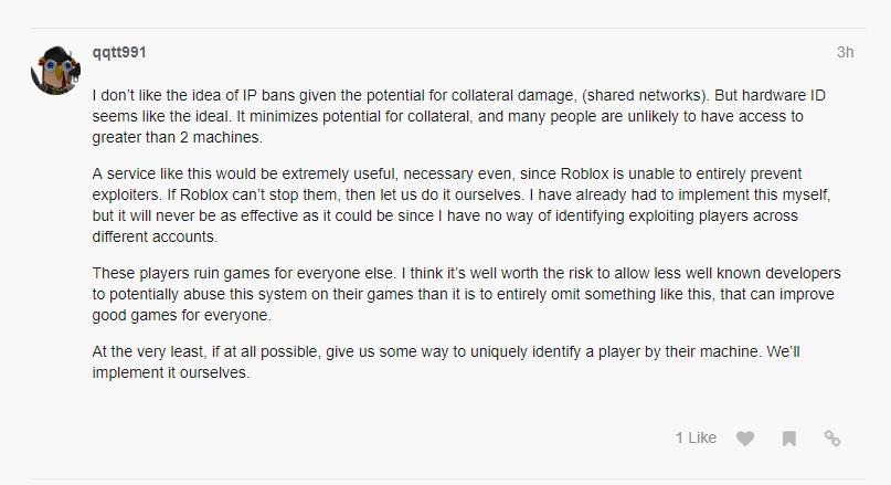 meme] Roblox Game Developers/DevForum begs for HWID bans